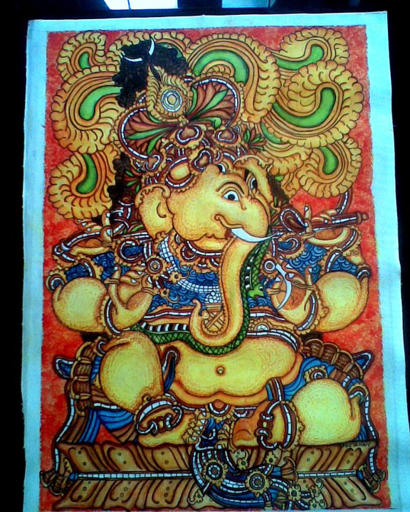 Mural paintings the rainbow for Mural art of ganesha
